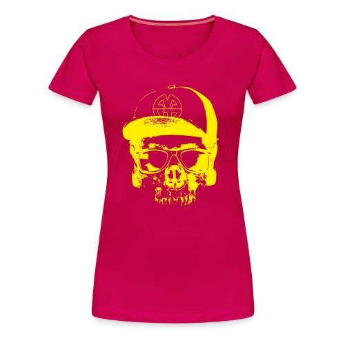 fancyskull gelb - Frauen Premium T-Shirt