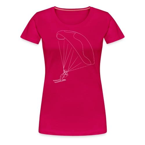 Speedflying Speedriding Linien Skizze - Frauen Premium T-Shirt