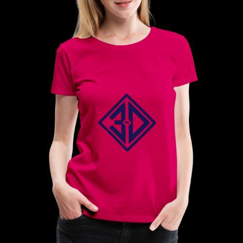 3d N et B - T-shirt Premium Femme