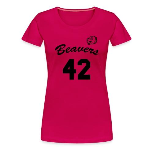Beavers front - Vrouwen Premium T-shirt