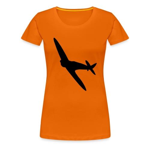Spitfire Silhouette - Women's Premium T-Shirt