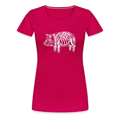 Cerdo Muerto De Dödas Daladjur vit - Premium-T-shirt dam