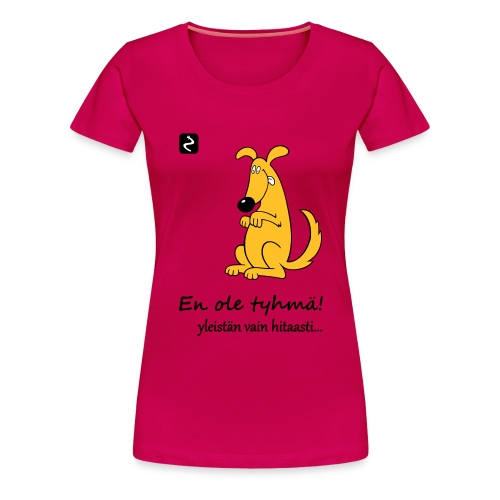 istuva koira s - Naisten premium t-paita