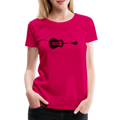 City of Guitar - Frauen Premium T-Shirt