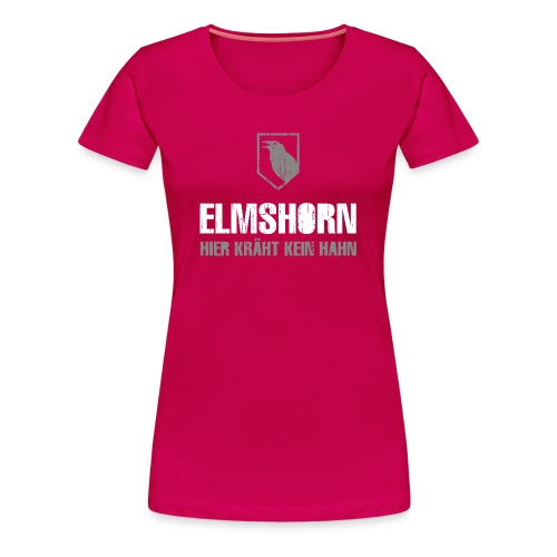 Elmshorn Krähe grau-weiß - Frauen Premium T-Shirt