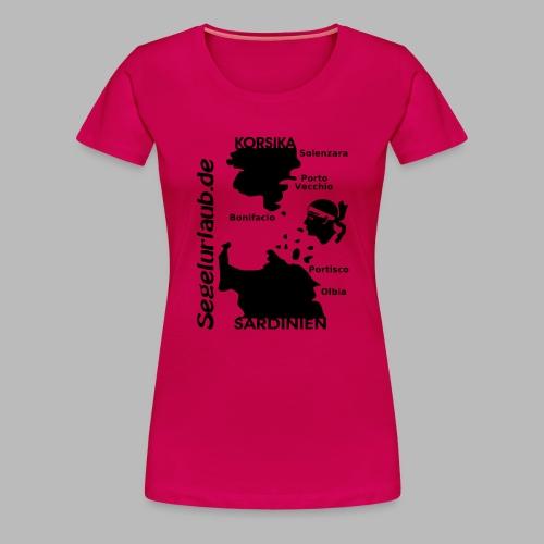 Korsika Sardinien Mori Shirt - Frauen Premium T-Shirt