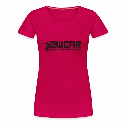 2wear org tagline logo blk - Dame premium T-shirt
