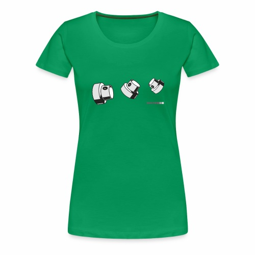 2wear caps flow ver02 - Dame premium T-shirt