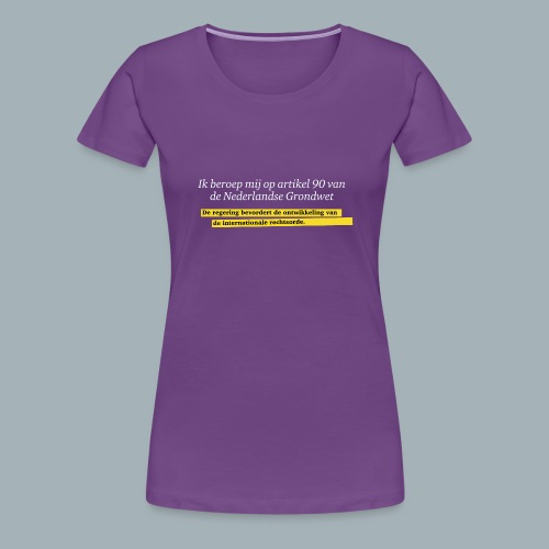 Nederlandse Grondwet T-Shirt - Artikel 90 - Vrouwen Premium T-shirt