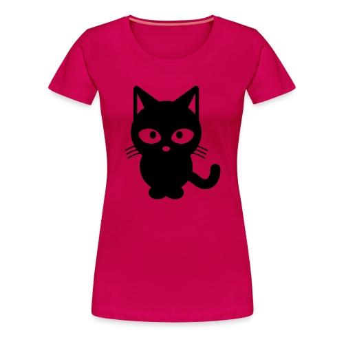 Styled Black Cat - T-shirt Premium Femme