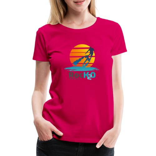 Rock2O Flyboard Sunset - Frauen Premium T-Shirt