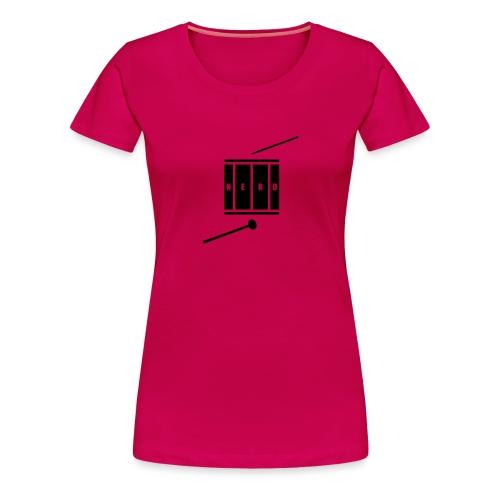 Nerd_Logo Black - Dame premium T-shirt