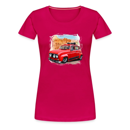 R4 4L prête au départ pour le Raid dans le désert - T-shirt Premium Femme