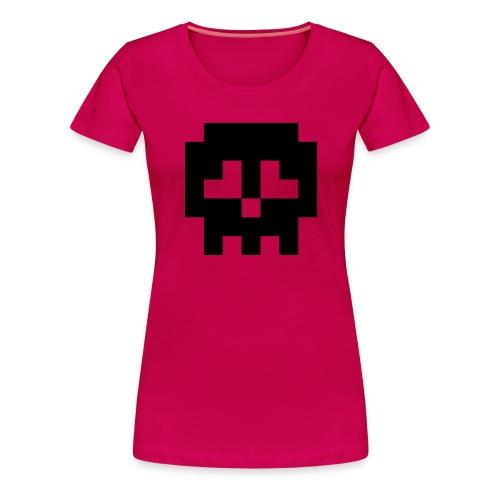 Retro Gaming Skull - Women's Premium T-Shirt