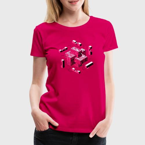 Casse-tête typographique - T-shirt Premium Femme