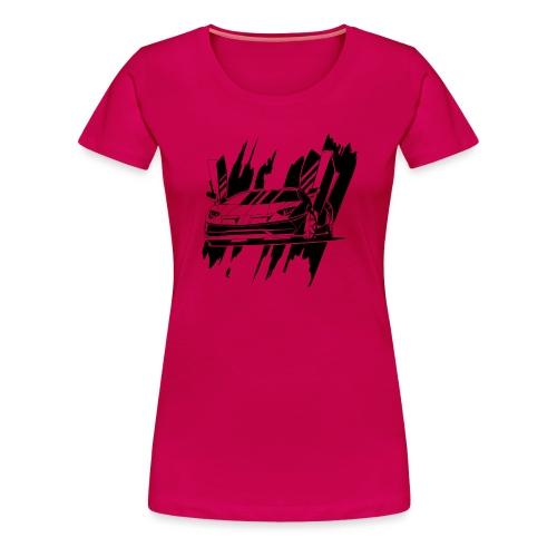 auto deportivo en negro - Camiseta premium mujer