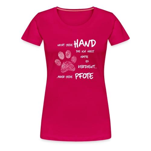 Vorschau: Hand Pfote Hund - Frauen Premium T-Shirt