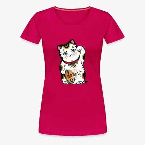 Love Lucky Cat - Women's Premium T-Shirt