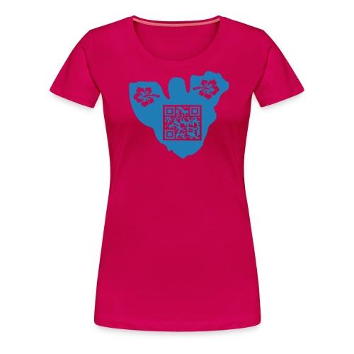 moorea tf3d hibiscus qrcode - T-shirt Premium Femme
