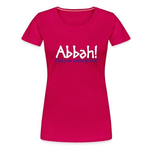 Abbahschriftzug ohne Jumpingman - Frauen Premium T-Shirt
