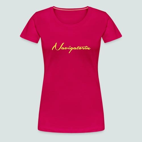 Navigatorin_02 - Frauen Premium T-Shirt