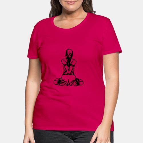 Slavegirl on her knees - backside bondage - Frauen Premium T-Shirt