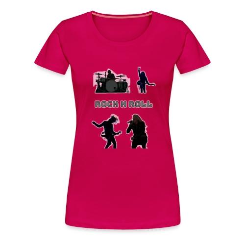 rocknroll - Premium-T-shirt dam