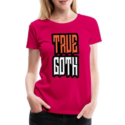 True Goth + Paratronix Logo Back - Frauen Premium T-Shirt