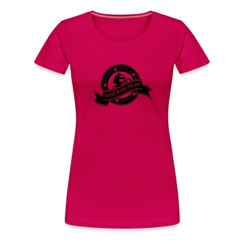 Ride with Pride - Dame premium T-shirt