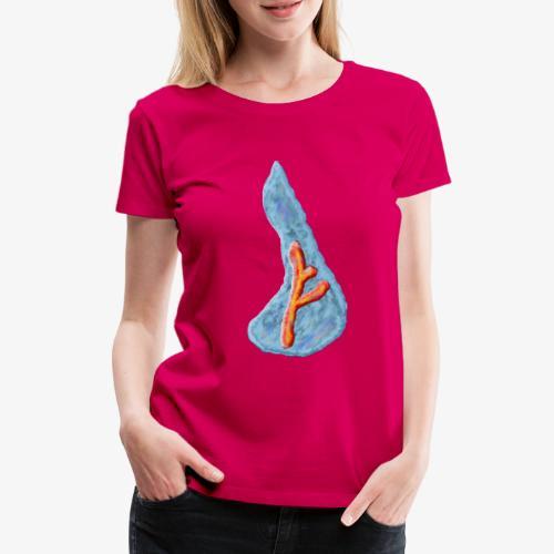 Wassermotiv mit Rune - Frauen Premium T-Shirt