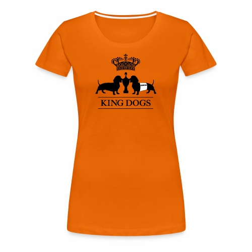 KING DOGS 2wear dog squad - Dame premium T-shirt
