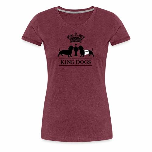 KING DOGS 2wear dog squad - Dame premium T-shirt