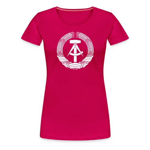 DDR Coat of Arms (white) - Women's Premium T-Shirt