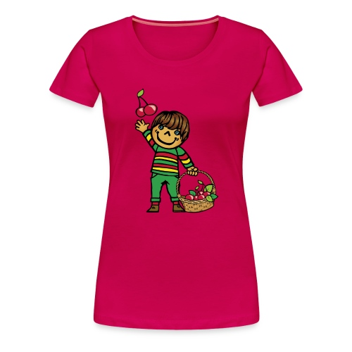 07 kinder kapuzenpullover hinten - Frauen Premium T-Shirt