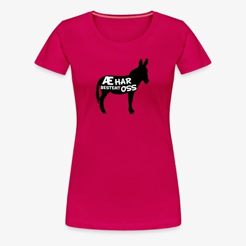 Esel-politikk - Premium T-skjorte for kvinner