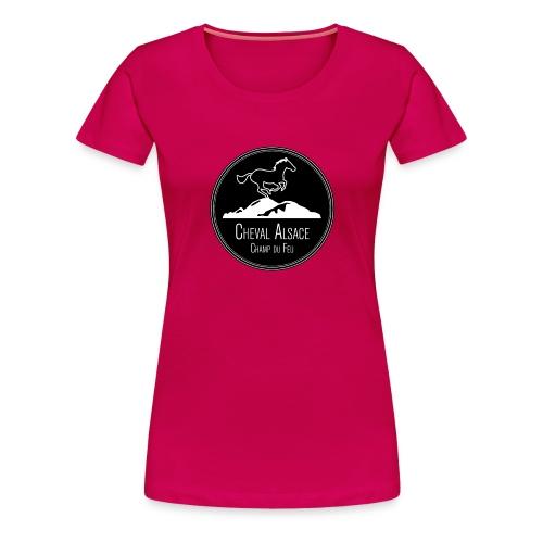 cheval alsace noir - T-shirt Premium Femme