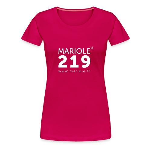 logo mariole blanc - T-shirt Premium Femme