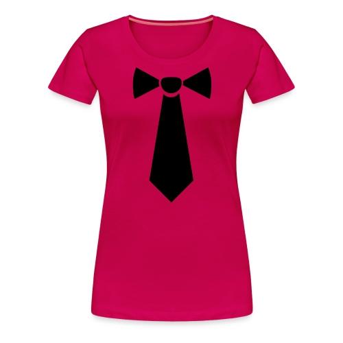 Vlinderstropdas - Vrouwen Premium T-shirt