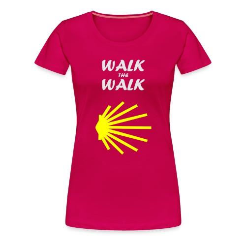 Walk the Walk - Camino de Santiago - Dame premium T-shirt