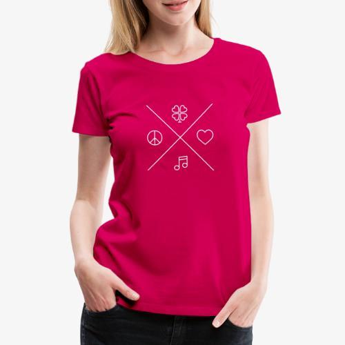 Peace - Love - Music - Luck - Frauen Premium T-Shirt