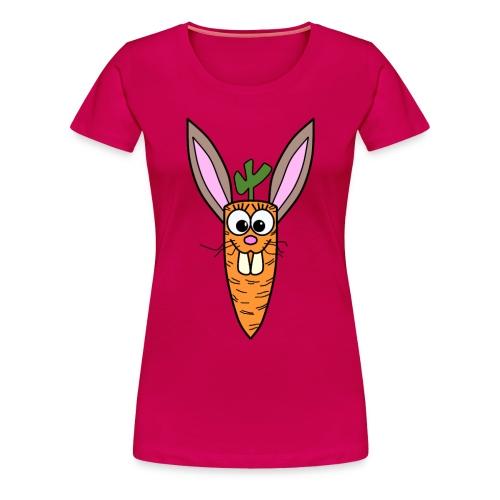 Cute Bunny Rabbit Carrot - Frauen Premium T-Shirt