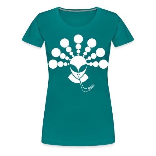 The Smoking Alien White - Women's Premium T-Shirt