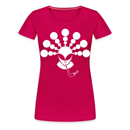 The Smoking Alien White - Women's Premium T-Shirt