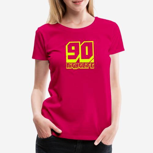 90 Nightlife (logo giallo neon) - Maglietta Premium da donna