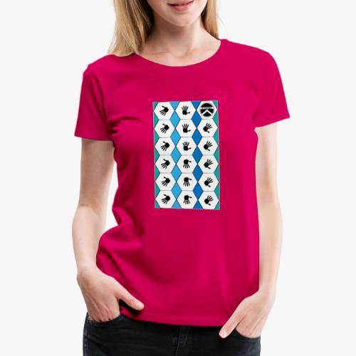 |K·CLOTHES| HEXAGON ESSENCE BLUES & WHITE - Camiseta premium mujer