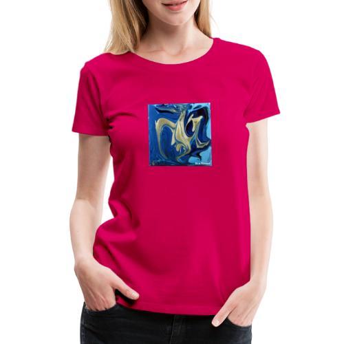 TIAN GREEN Welt Mosaik - AT042 Blue Passion - Frauen Premium T-Shirt