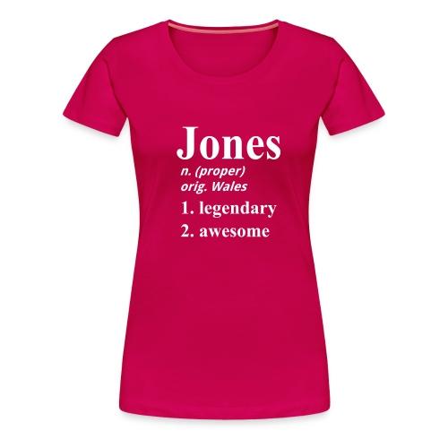 Jones 3e again - Women's Premium T-Shirt