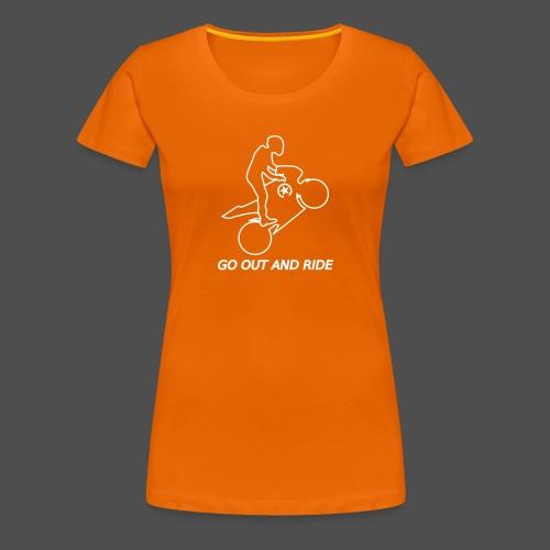 wyjdź i jeźdź na kołach superbike - Koszulka damska Premium