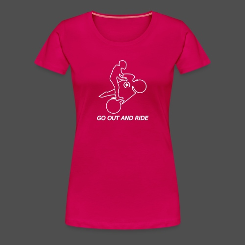 go out and ride superbike wheelie - Women's Premium T-Shirt