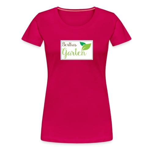 Berthas Garten-Banner fre - Frauen Premium T-Shirt